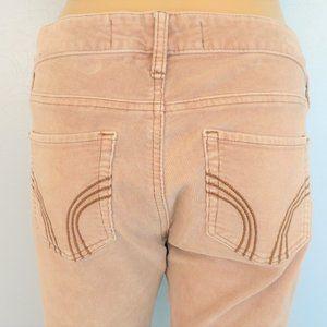 Hollister Blush Pink Corduroy Skinny Jeans 28